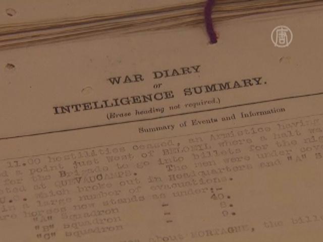 В Британии оцифровывают дневники Первой мировой