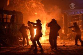 В центре Киева продолжается противостояние
