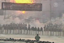 На Грушевского в Киеве временное перемирие