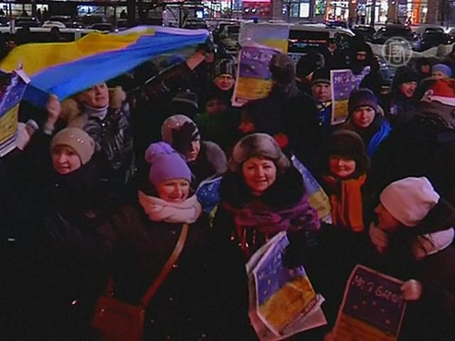 Поляки поддержали «Евромайдан»