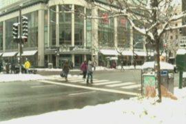 Северо-восток США засыпало снегом