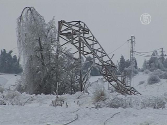 Ледяной дождь нарушил электроснабжение в Словении