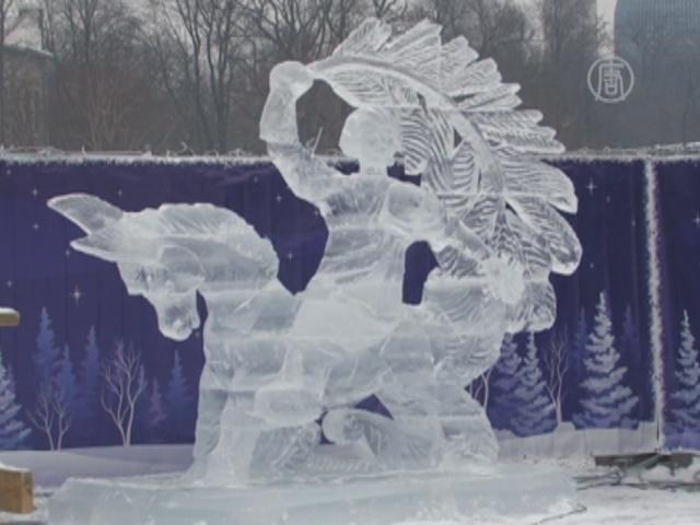 Героев сказок изо льда создали в Петербурге