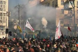 В Киеве — многотысячный протест, есть пострадавшие