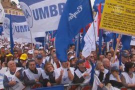 Многотысячный митинг бизнесменов прошёл в Риме