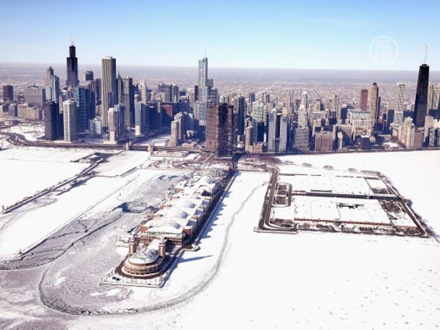 Снегопады в Чикаго усмирили преступность