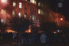 Люди захватили госучреждения во Львове