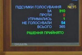 Рада проголосовала за освобождение Тимошенко