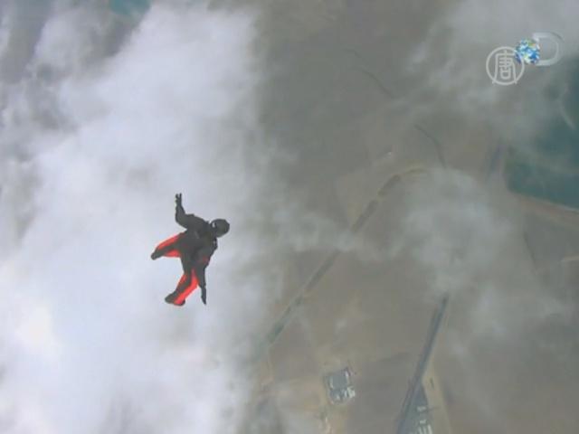 Американец готовится прыжку с Эвереста