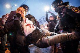 В Москве задержали противников войны с Украиной