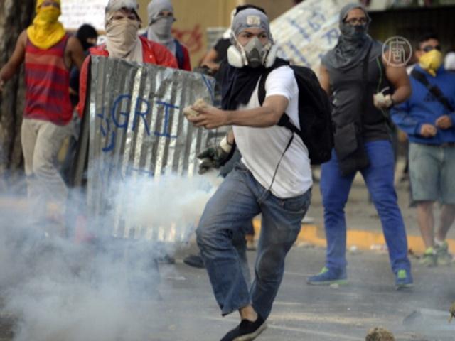 Демонстрация в Венесуэле закончилась беспорядками