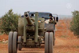 Повстанцы Сирии стреляют из пушек по войскам Асада
