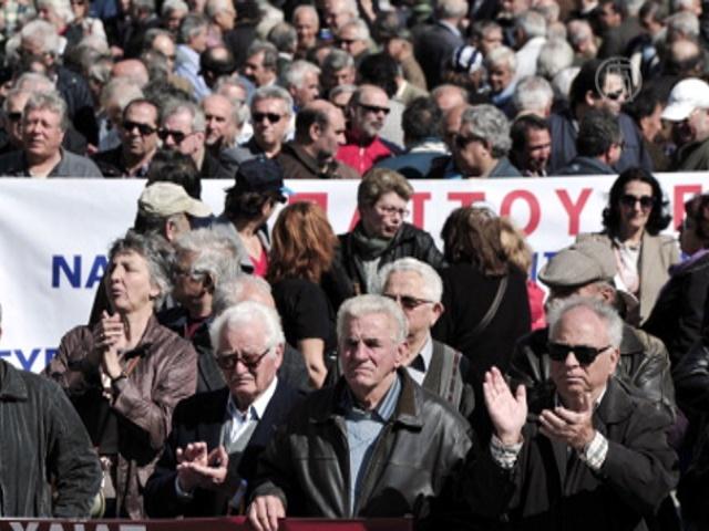 Пенсионеры Греции возмущены антикризисными мерами