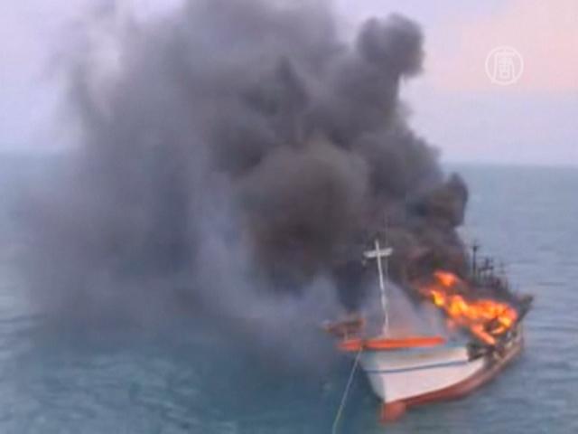 Пожар на судне у берегов Чеджу, есть жертвы