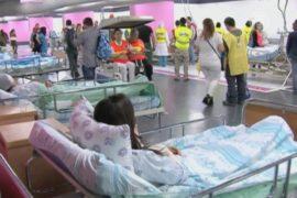 Парковка превращается в госпиталь в случае войны