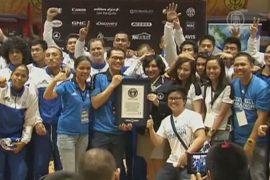 На Филиппинах баскетболисты побили рекорд Гиннесса