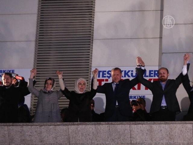 Партия Эрдогана побеждает на выборах в Турции