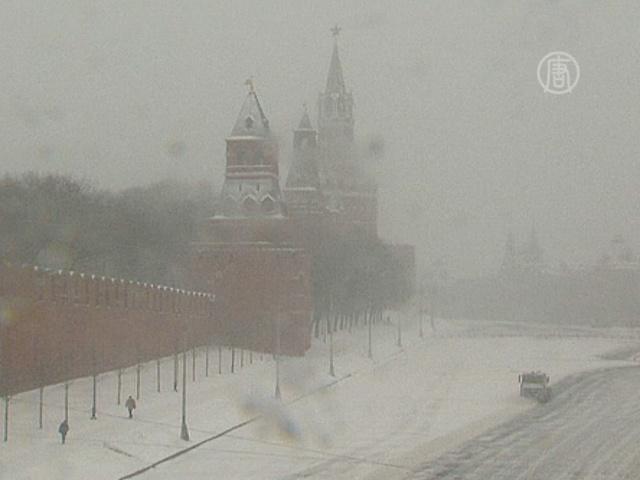 На 1 апреля в Москве выпал снег