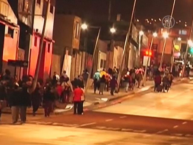 В Чили после землетрясения объявлена угроза цунами