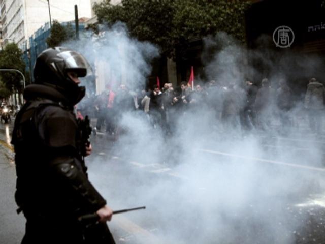 Протест в Афинах вылился в стычку с полицией