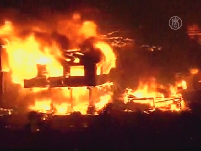 В Чили пожар уничтожил целый район