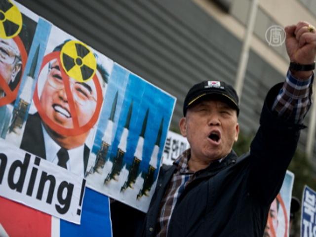 В Сеуле протестовали в день рождения Ким Ир Сена