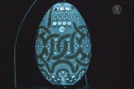 Словенский умелец создаёт ажурные пасхальные яйца