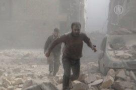 В Алеппо воздушные атаки привели к жертвам