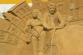 Города из песка возвели в Москве