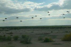 В пустыне Польши прошли военные учения