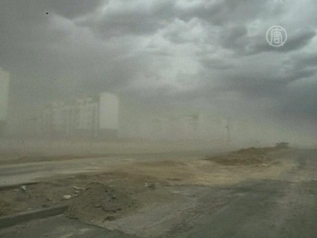 Песчаная буря обрушилась на северо-запад КНР