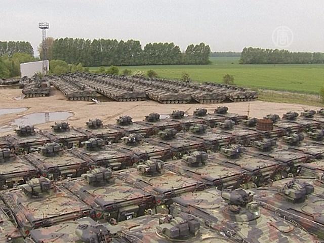 В Германии утилизируют боевые танки