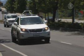 Беспилотные автомобили Google тестируют в городе