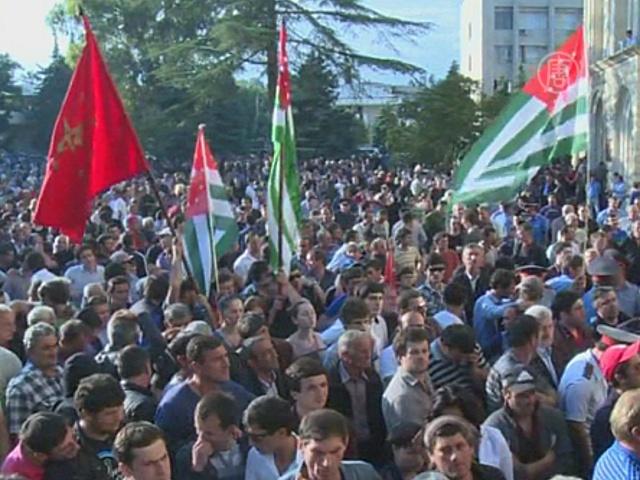 Массовые протесты в Абхазии