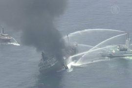 У берегов Японии горит танкер и ищут капитана