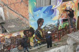Граффити-художники нарисовали протест Кубку мира