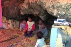 Сирийские переселенцы ютятся в пещерах