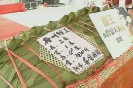 В Китае приготовили двухметровый рисовый пельмень
