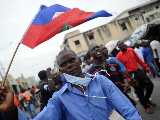 Гаитяне протестуют против президента