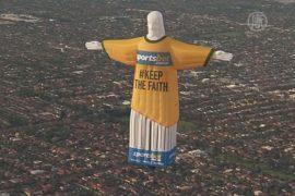 Гигантская статуя Христа парила над Мельбурном