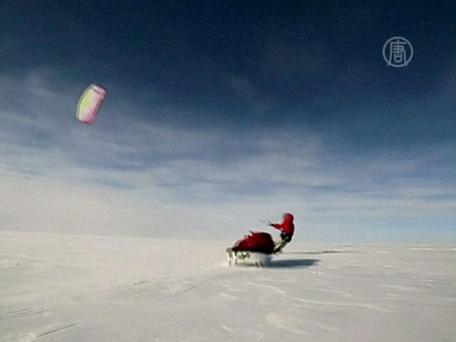 Исследователи проехали льды Гренландии за 55 дней