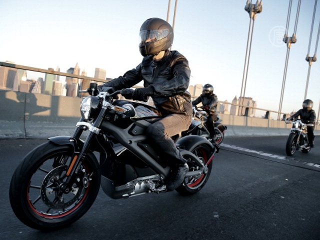 В Нью-Йорке опробовали электромотоцикл Harley