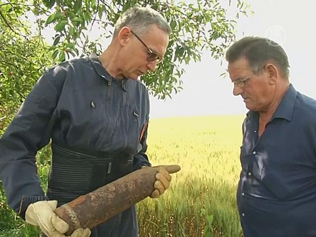 Французы находят бомбы Первой мировой войны