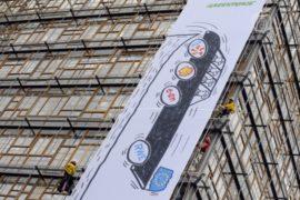 «Гринпис» протестует против ископаемого топлива