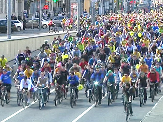 Масштабный велопарад прошёл в Москве
