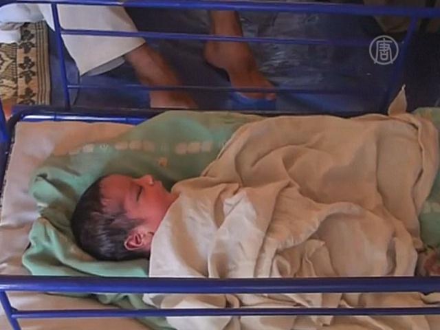 Беженцы назвали сына в честь военной операции