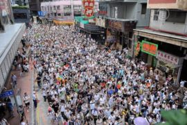 Полмиллиона гонконгцев требуют демократии