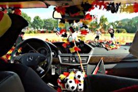 Таксист в Германии оформил машину в стиле ЧМ-2014