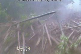 На японский город обрушился оползень
