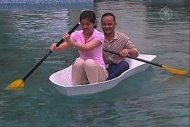 Напечатанную на принтере лодку спустили на воду